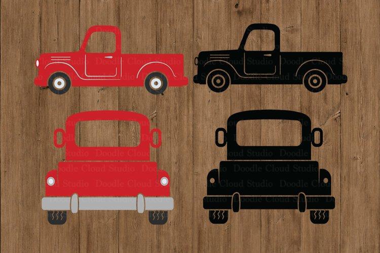 Truck SVG, Truck Farm SVG Cut Files, Red Truck SVG.