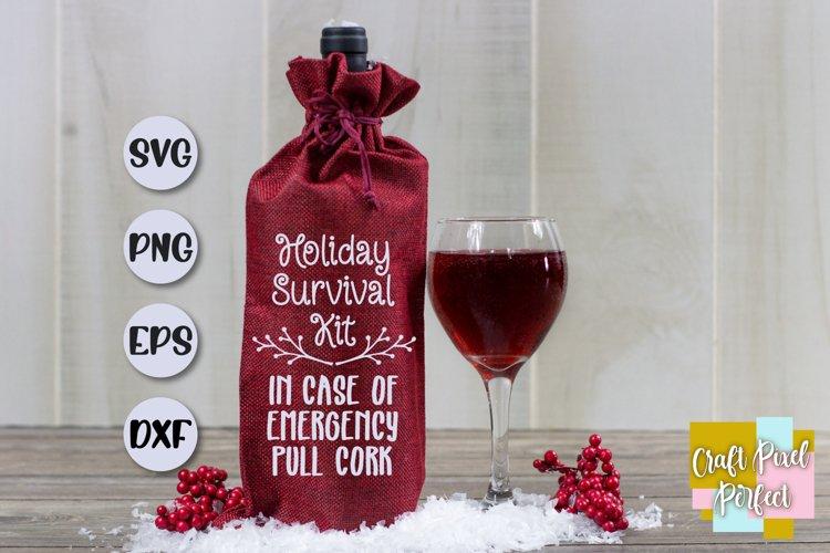 Funny Christmas Wine Svg, Wine Christmas Svg, Wine Svg example image 1