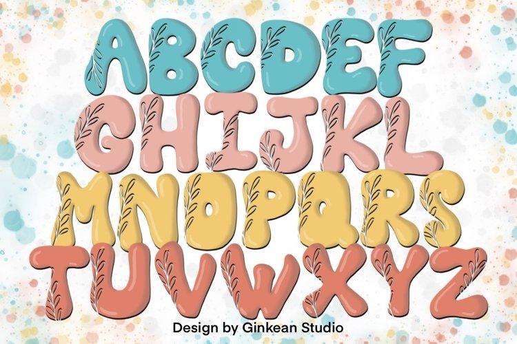 Alphabet brushes, 26 Alphabets brush stamp procreate, leaf example image 1