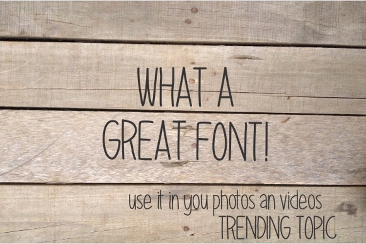 Great Font example image 1