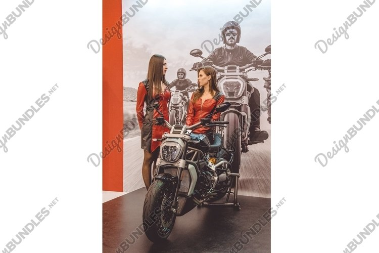 Old school motorcycles. Annual Exhibition example image 1