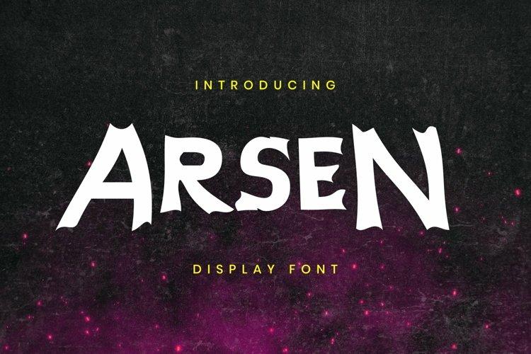 Web Font Arsen Font example image 1