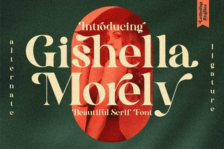 Gishella Morely - Luxury and Beautiful Serif Font example image 1