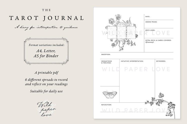 Tarot Journal Printable A4 Letter A5 Binder - Pdf printable
