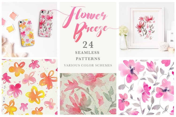 Flower Breeze - Seamless Patterns example image 1