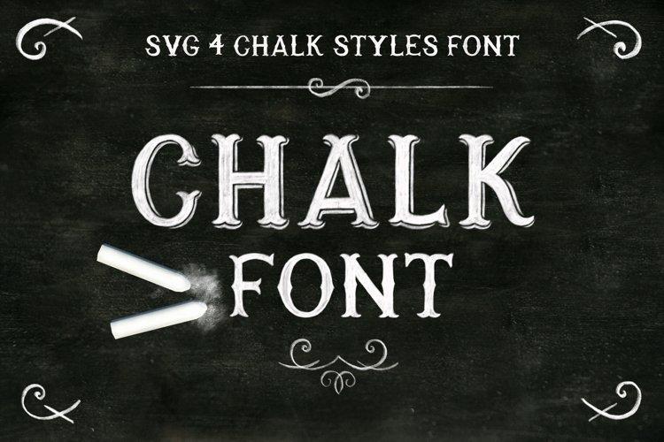 Chalk SVG font example image 1