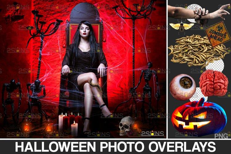 Halloween clipart & Photoshop overlay Halloween overlay example image 1