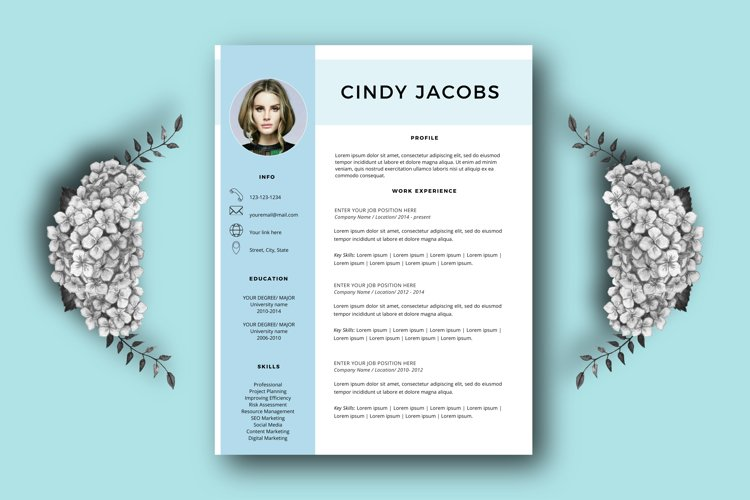 Professional resume template for Word example image 1