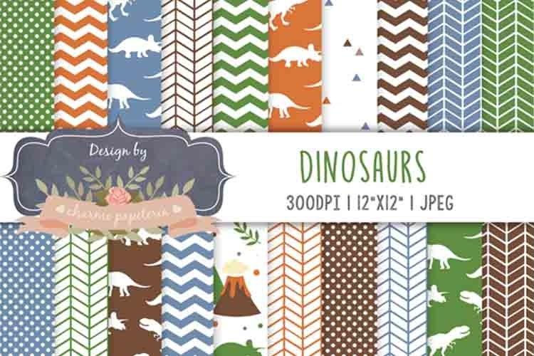 Dinosaur Digital paper, dinosaur background, jurastic example image 1