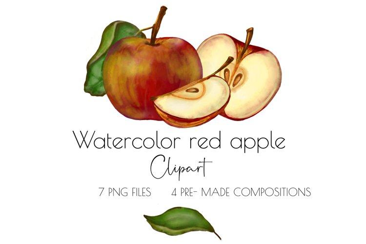Apple clipart,watercolor clipart ,fruit clipart ,watercolor