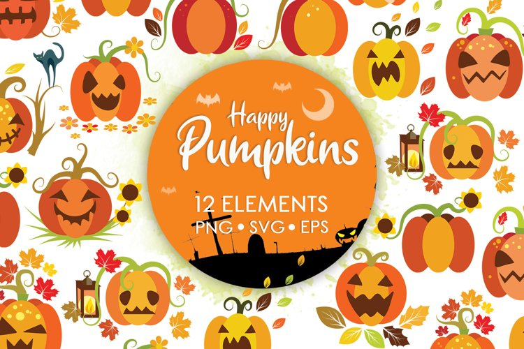 Halloween Bundle, Fall Clipart, Halloween Svg, Fall Svg example image 1