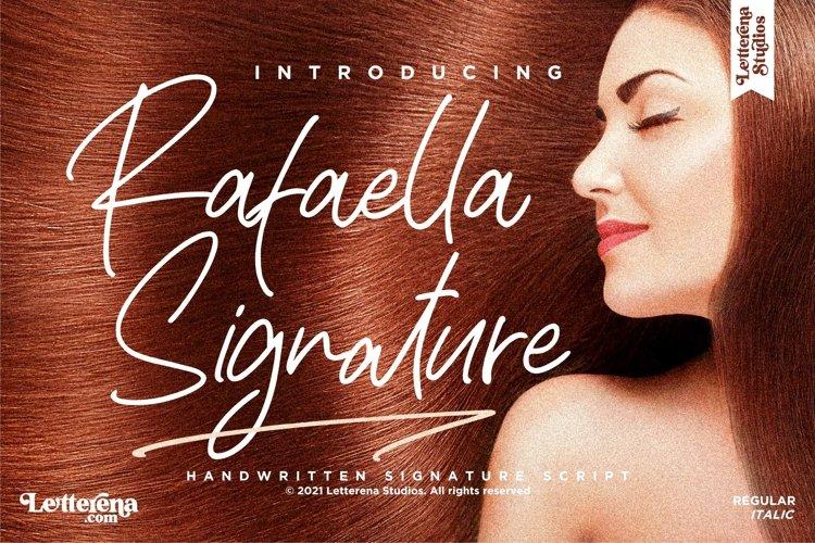 Rafaella Signature - Signature Script Font example image 1