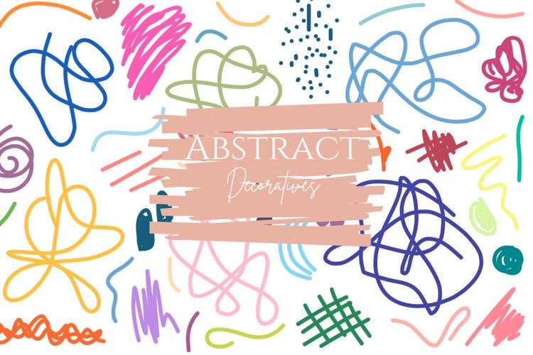 Abstract Decoratives shapes