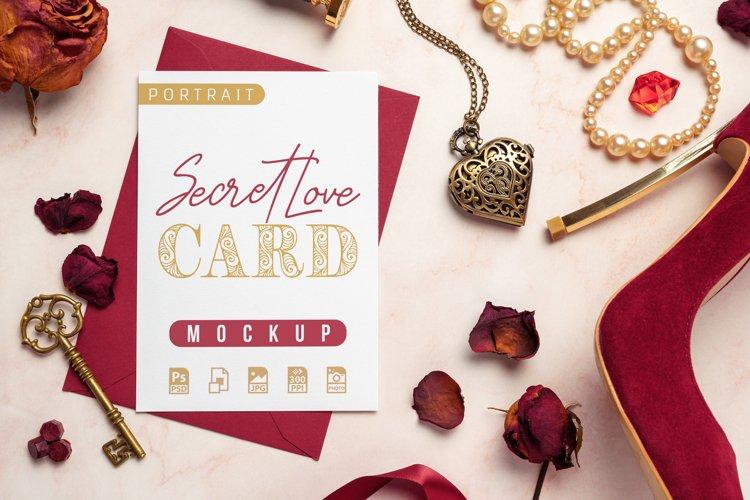 Secret Love Card Mockup example image 1