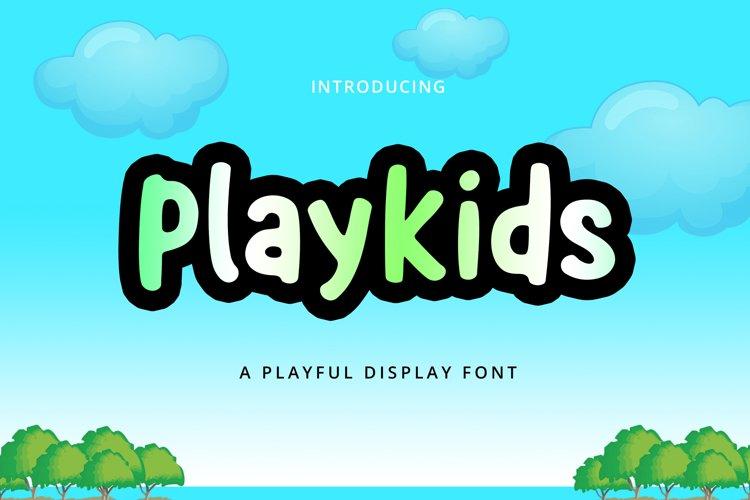 Playkids Display Font example image 1