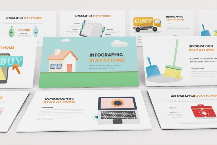 Stay At Home Infographic Powerpoint example image 1