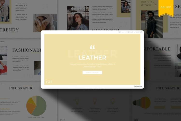 Leather   Google Slides Template example image 1