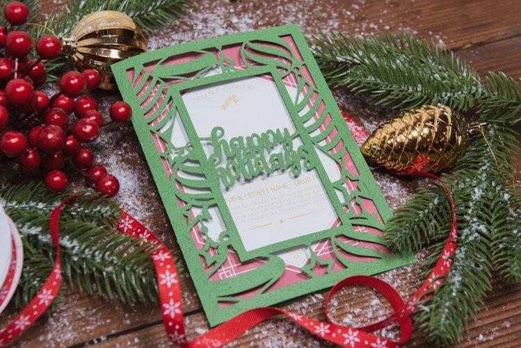 Happy Holidays Invitation cutting file example image 1