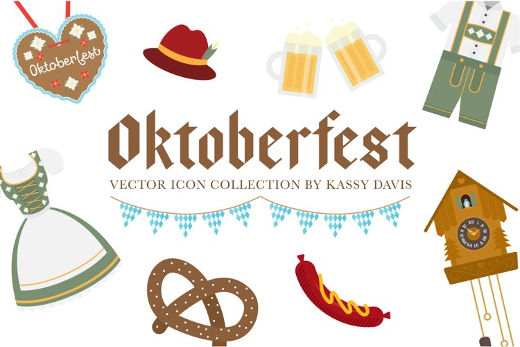 Oktoberfest Vector Icon Collection example image 1
