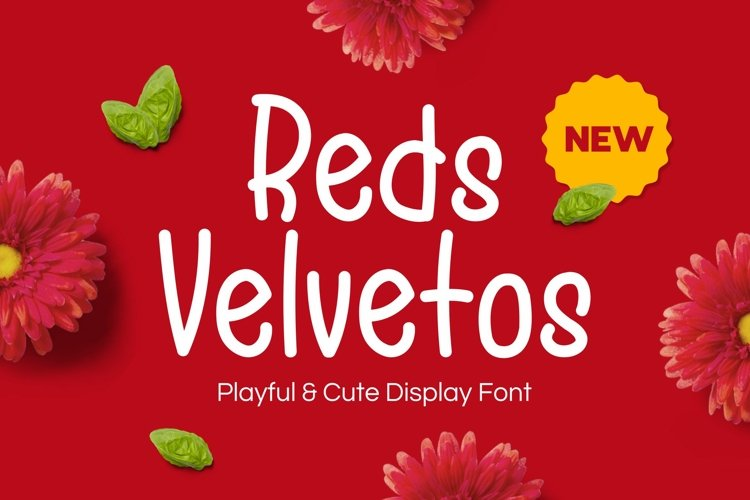 Reds Velvetos - Playful & Cute Font example image 1