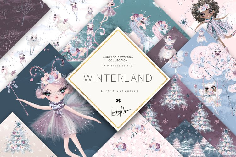 Winter Fairies Patterns example image 1