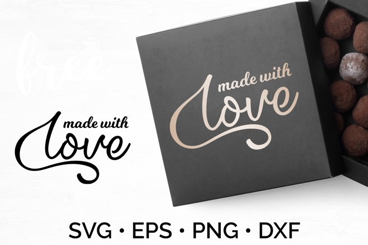 Family SVG | Made With Love example