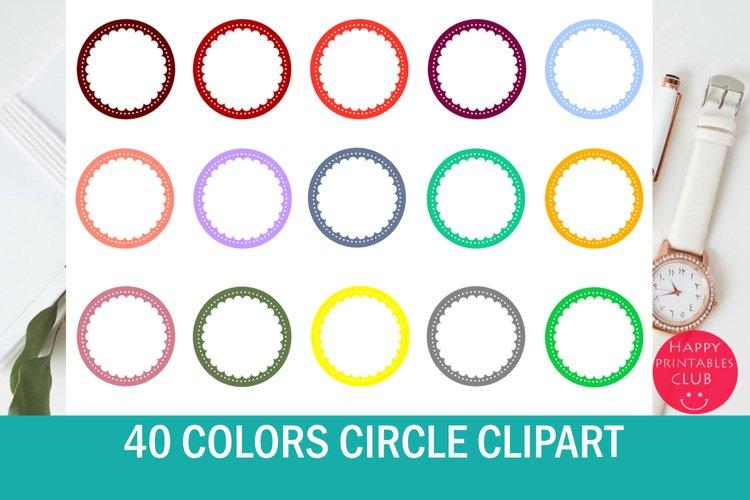 40 Colors Circle Clipart-Scallop Circle example image 1