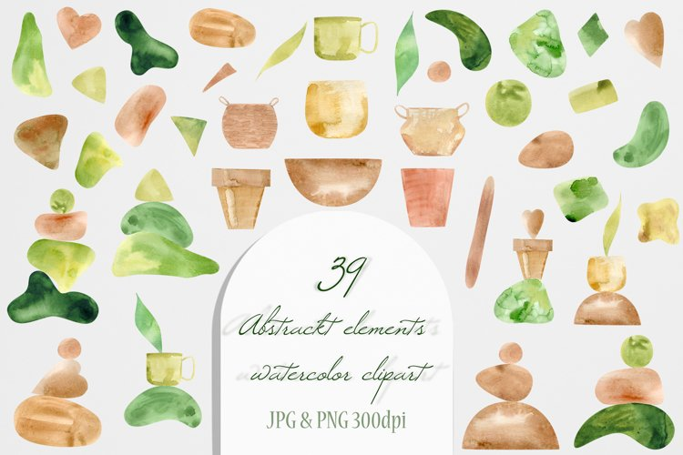 Watercolor Home Plant Clipart Set example 5