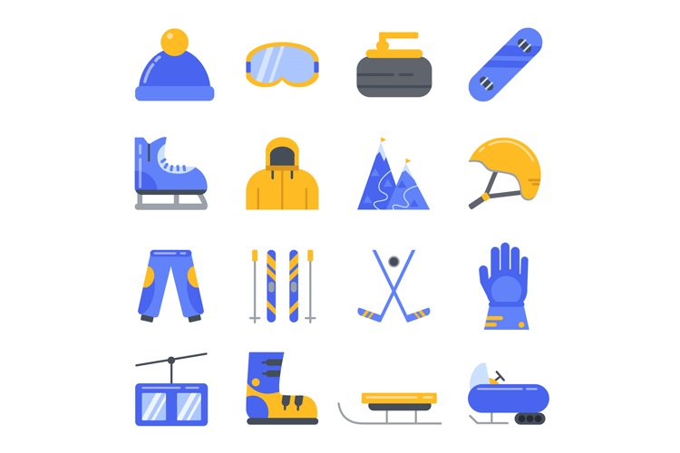 Extreme winter sport. Ski, snowboard and other equipment. Ve example image 1