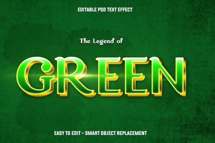 cinematic green text effect