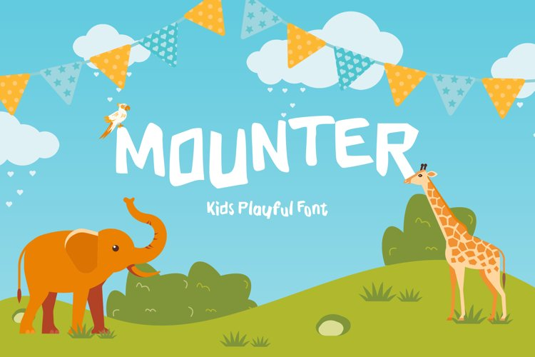 Mounter Kids Playful Display Font example image 1
