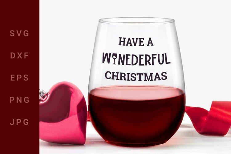Christmas Wine SVG example image 1