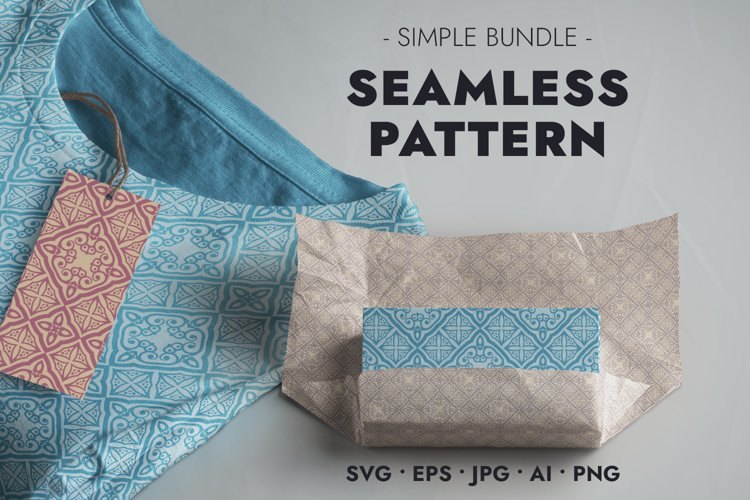 Detailed Pattern in Retro Style - Seamless Pattern - SVG JPG