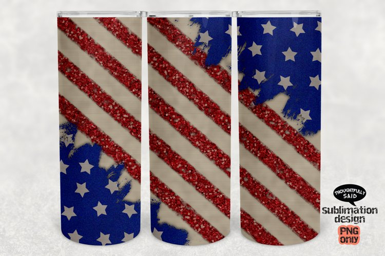 Tumbler Sublimation png, Patriotic July 4th Distressed Flag