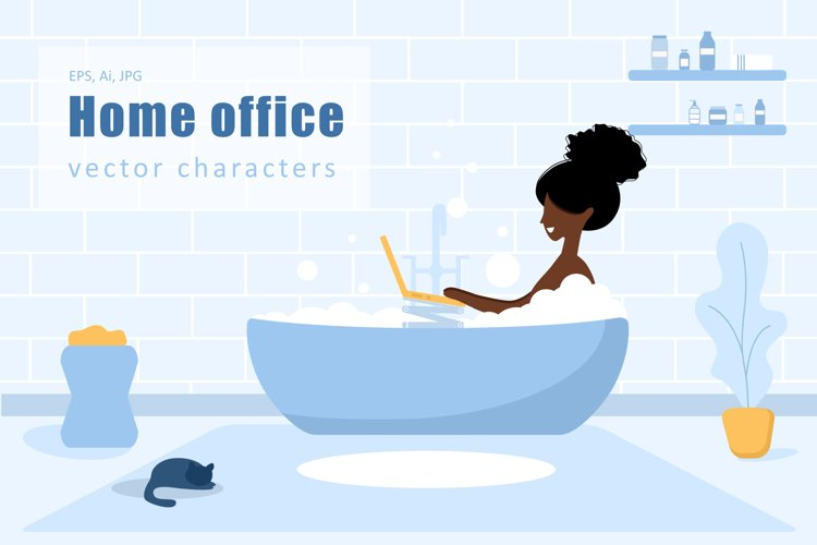 Stay at home. Vector collection. example image 1