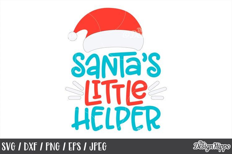 Christmas, Santa's Little Helper, Santa Hat, SVG, PNG, DXF example image 1