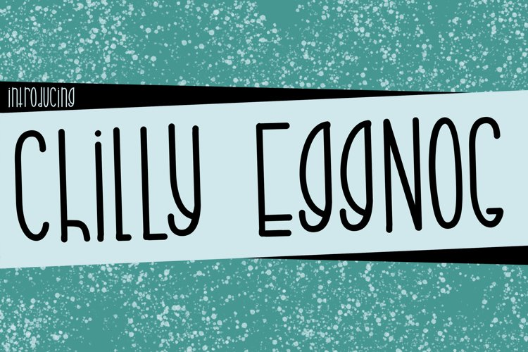 Chilly Eggnog a Joyful Font example image 1