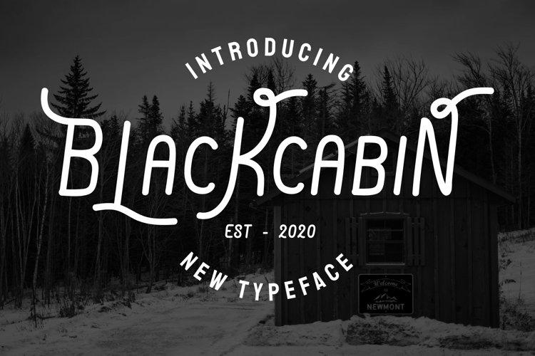 Blackcabin Display Font example image 1