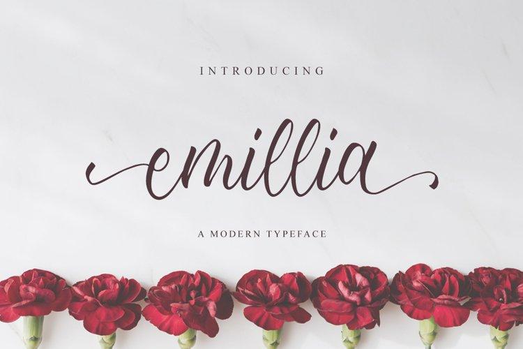 Emillia Script example image 1