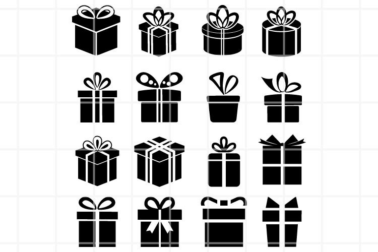 Gift SVG. Gift box SVG. Gift box cut file. Gift clipart.