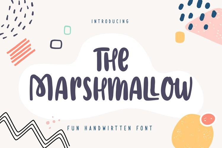 The Marshmallow | Fun Handwritten Font example image 1