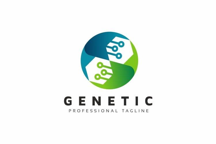 Genetic Dna Tech Logo example image 1