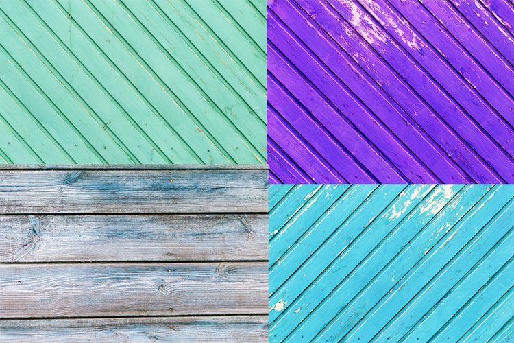 Wooden texture of bright colored, collection example image 1