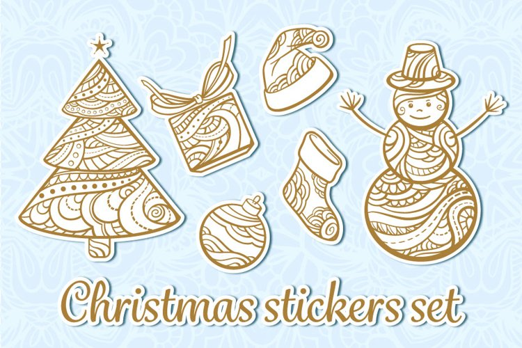 Christmas stickers set example image 1