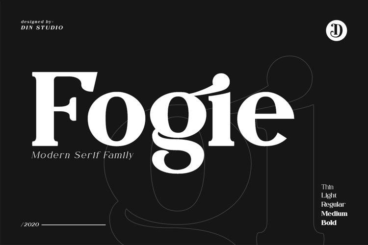 Fogie Modern Serif Font example image 1