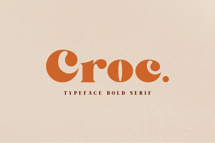 Croc. Typeface Bold Serif