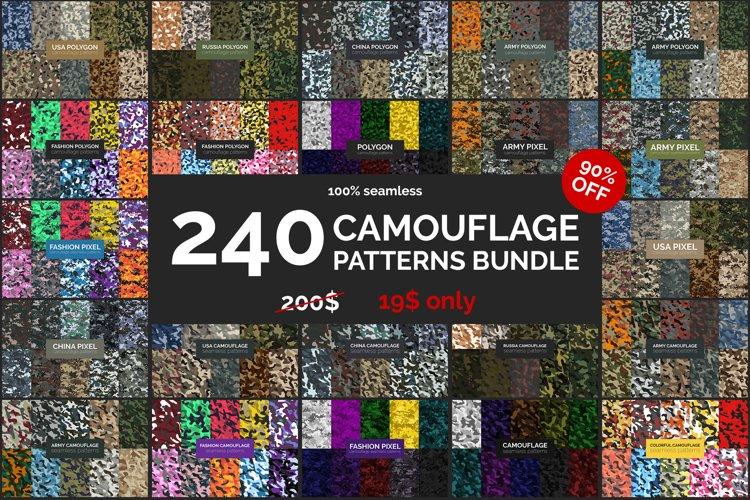 240 Camouflage Patterns Bundle example image 1