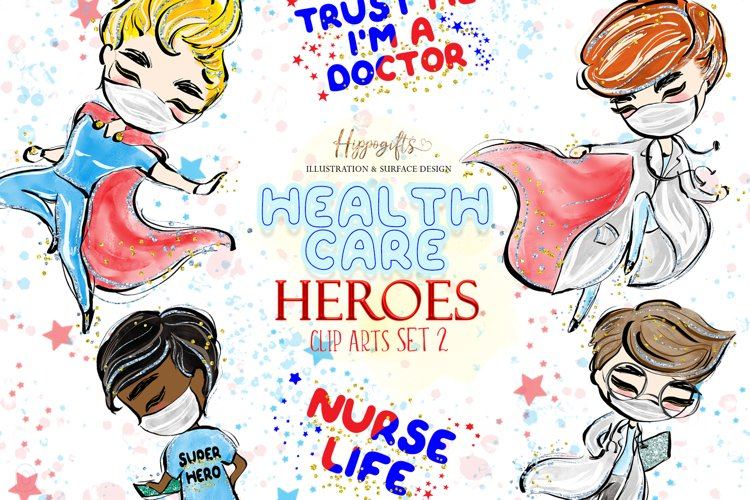 Health care heroes cliparts,male nurse,doctor cliparts