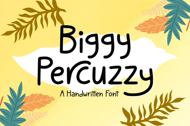 Percuzzy - Handwritten Font example image 1