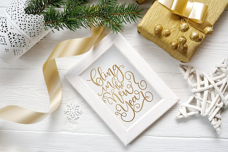 New Year SVG - Bling in the New Year Hand-Lettered Cut File